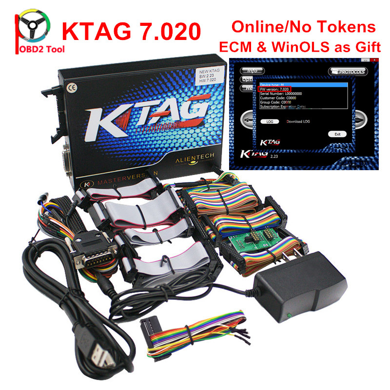 NEW Online Version KTAG 7.020 V2.23 Added More 140 Protocols KESS V5.017 SW2.23 ECU Programmer KESS V2 5.017 No Token Limited 2017 newest ktag v2 13 firmware v6 070 ecu multi languages programming tool ktag master version no tokens limited free shipping