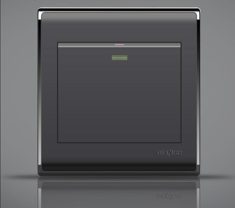 Luxury Home Switch Socket Panel, 86-Type Black Agate, A Double-Control Switch Panel , 16A AC110-250V