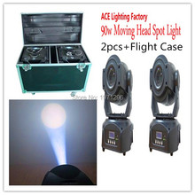 Fast&Free shipping a dual flight case for 2pcs 90w spot led moving head light led 90w spot stage dj movinghead equipment