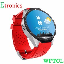 2016 New adult smart watch android 1.4″ AMOLED Display Bluetooth 5.1 WIFI GSM WCDMA SIM Card Heart rate ROM 4GB Red smart watch