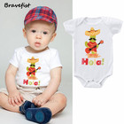 Lovely Cactus Baby Onesies Cotton White Newborn Boys Girls Clothes Infant Jumpsuits Newborn Bosysuits Summer Outwear Outfit 0-2Y