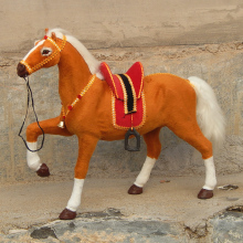 small cute simulation horse toy brown lucky polyethylene&furs horse model horse doll gift about 30x25cm