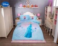 Disney изображением Эльзы из мультфильма «Холодное сердце» характер 3D печатных Постельное белье для Обувь для девочек Украшения в спальню хло