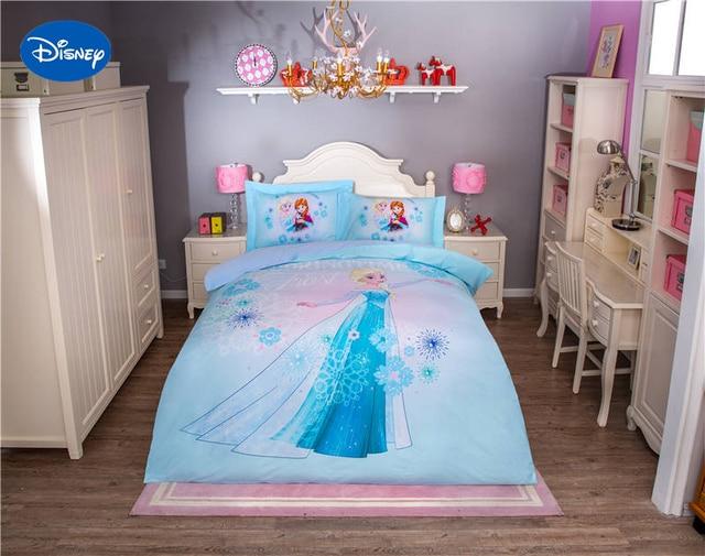 Disney Frozen Elsa Personnage 3D Imprimé Ensemble De Literie Pour Filles  Chambre Décor Coton Drap De
