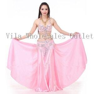 Image 4 - Belly dance skirt dancing skirt indian bellydance skirt 1pc skirt only 14 color 702#