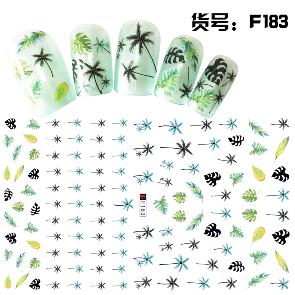 Hawaii flower delivery promotion shop for promotional hawaii summer nail art 1sheet nail sticker hawaii coconut treesleaf design water transfer nail decals self adhesive wraps for nails dhlflorist Gallery