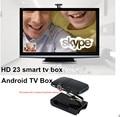 HD23 smart TV box câmera 5.0MP e Microfone Android TV HDMI 1080 P 1 GB/8 GB android 4.4 skype Google caixa de TV Android mídia HD23 jogador