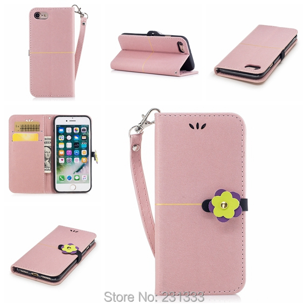 Diamond Flower Wallet Leather Pouch Case For Iphone 8 7 PLUS 6 6S SE 5 5S Sony Xperia E5 XA1 XZ Premium Stand ID Card Skin 1PCS