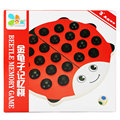 Free shipping Kids beetle memory chess Memory game toy  Wooden puzzle game Parent child desktop game/gift