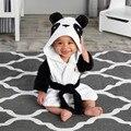 Roupões de inverno primavera outono roupas das meninas dos meninos das crianças dos miúdos dos desenhos animados do bebê roupão de banho Pijamas & Robe inverno coelho Rosa urso