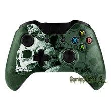 Frente Top Shell Habitação Case Capa Faceplate para Xbox Um Controlador de Lone Crânio