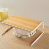 Gift Desktop Dish Rack Decorating Kitchen Supplies Plate Multifunctional Convenient Storage Holder Drying Solid Wooden Home