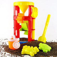 Summer Kids Beach Toy Children Sandbox Set Seaside Shovel Toys Double Wheel Hourglass Shove Animals for Children(China)