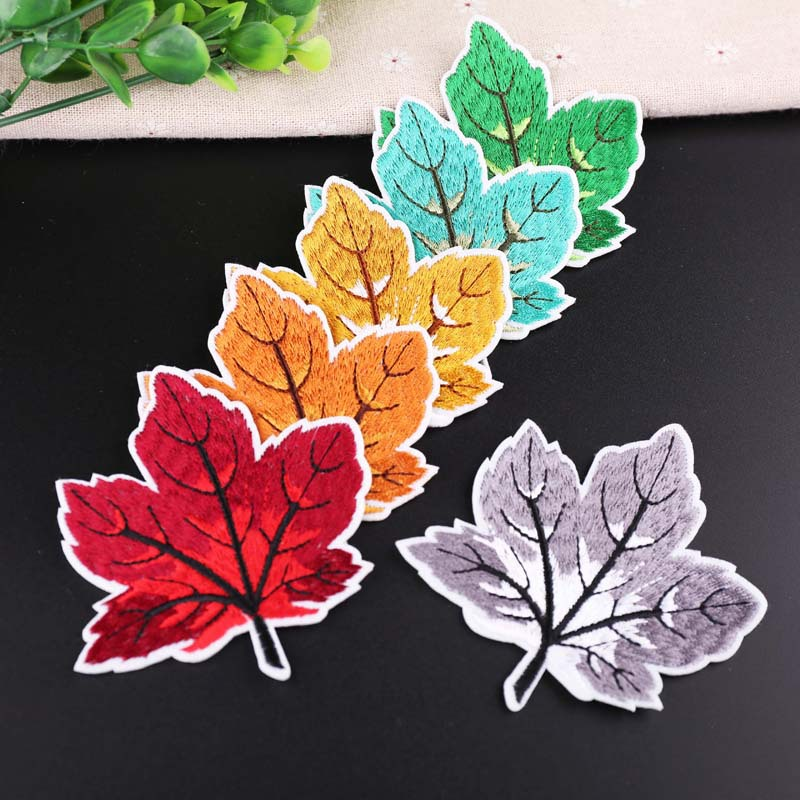 Many Colors The Leaves Patchwork Patch Embroidered Patches For Clothing Iron On Close Shoes Bags Badges Embroidery
