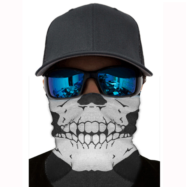 Motorcycle Face Mask Face Shield Skull Ghost Face Windproof Balaclava Outdoor Bike Head Face Sun Mask Shield 3