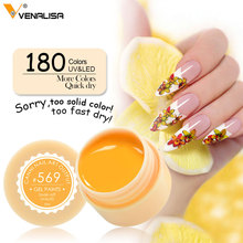 Venalisa CANNI Factory Supply 180 Colors UV/LED Soak Off Professional Nail Salon UV Gel Paint