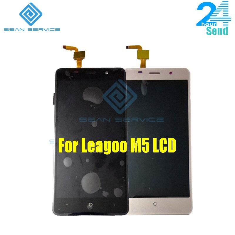 Für Leagoo M5 LCD Display Touchscreen Telefon Digitizer Montage Getestet 5,0 zoll 1280x720 P Freies verschiffen Lager