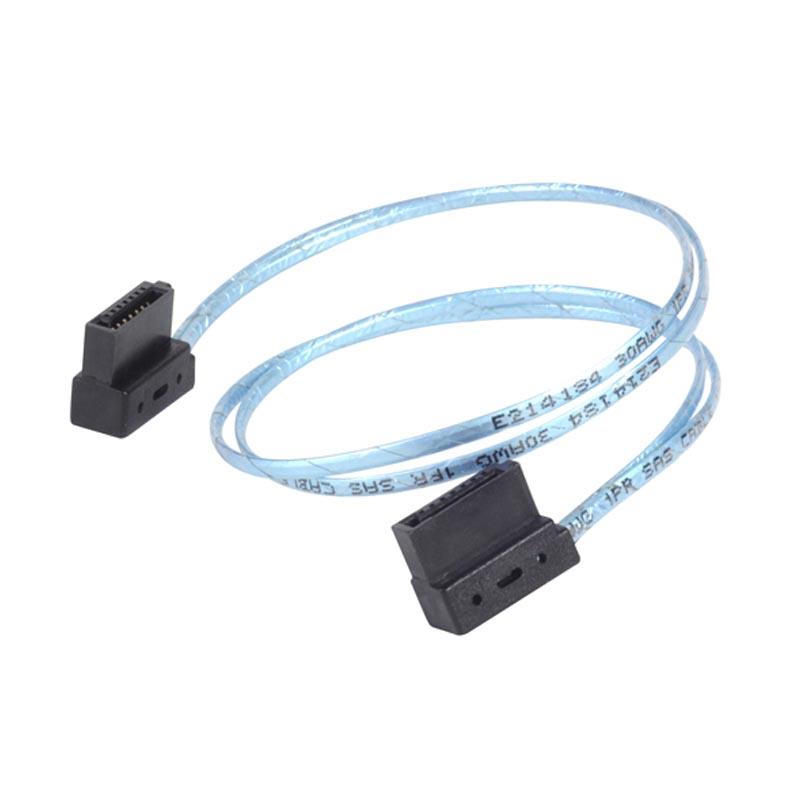 CP11 SATA Cable Lateral 90 Degree Angled SATA Connector 6Gb/s 30cm Blue cp11 sata cable lateral 90 degree angled sata connector 6gb s 30cm blue