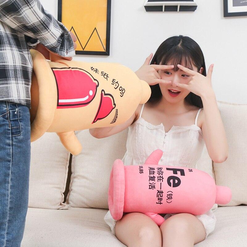 Cute Funny Set Condom Plush Toy Stuffed Soft Condom Pillow Dolls Boy/man/ Boyfriend/girlfriend's Christmas Birthday Gift
