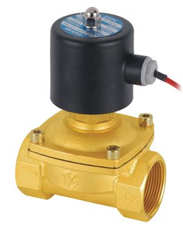 Free Shipping 2PCS/Lot 1.5inche Normally Open Brass Electric 12VDC Solenoid Valve Model 2W400-40-NO free shipping 2pcs 1 1 2 free shipping 2pcs ac110v normally open solenoid valve 2 way brass nbr air oil 2w400 40 no