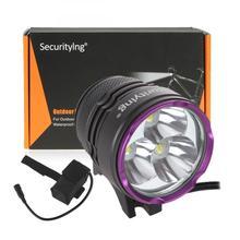 3 x XM-L2 U2-1A LED 2100Lm Bicycle Headlights Waterproof Mini Light + 7000mAh Battery Pack