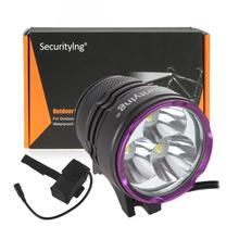 3 x XM-L2 U2-1A LED 2100Lm Bicycle Headlights Waterproof Mini Bicycle Light + 7000mAh Battery Pack