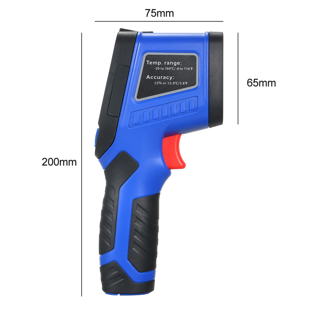 240x320 Screen IR Infrared Thermometer Thermal Imager Handheld Digital Electronic Outdoor Pyrometer Point Gun Thermometer in Temperature Instruments from Tools