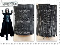 Movie Underworld 4 Awakening Selene Pleather Corset Costume Cosplay For Adult Women