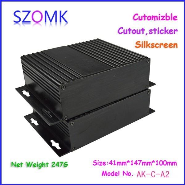 10 pcs/lot aluminium case amplifier box szomk control enclosure 41x147 x 100 mm 3206 amplifier aluminum rounded chassis preamplifier dac amp case decoder tube amp enclosure box 320 76 250mm