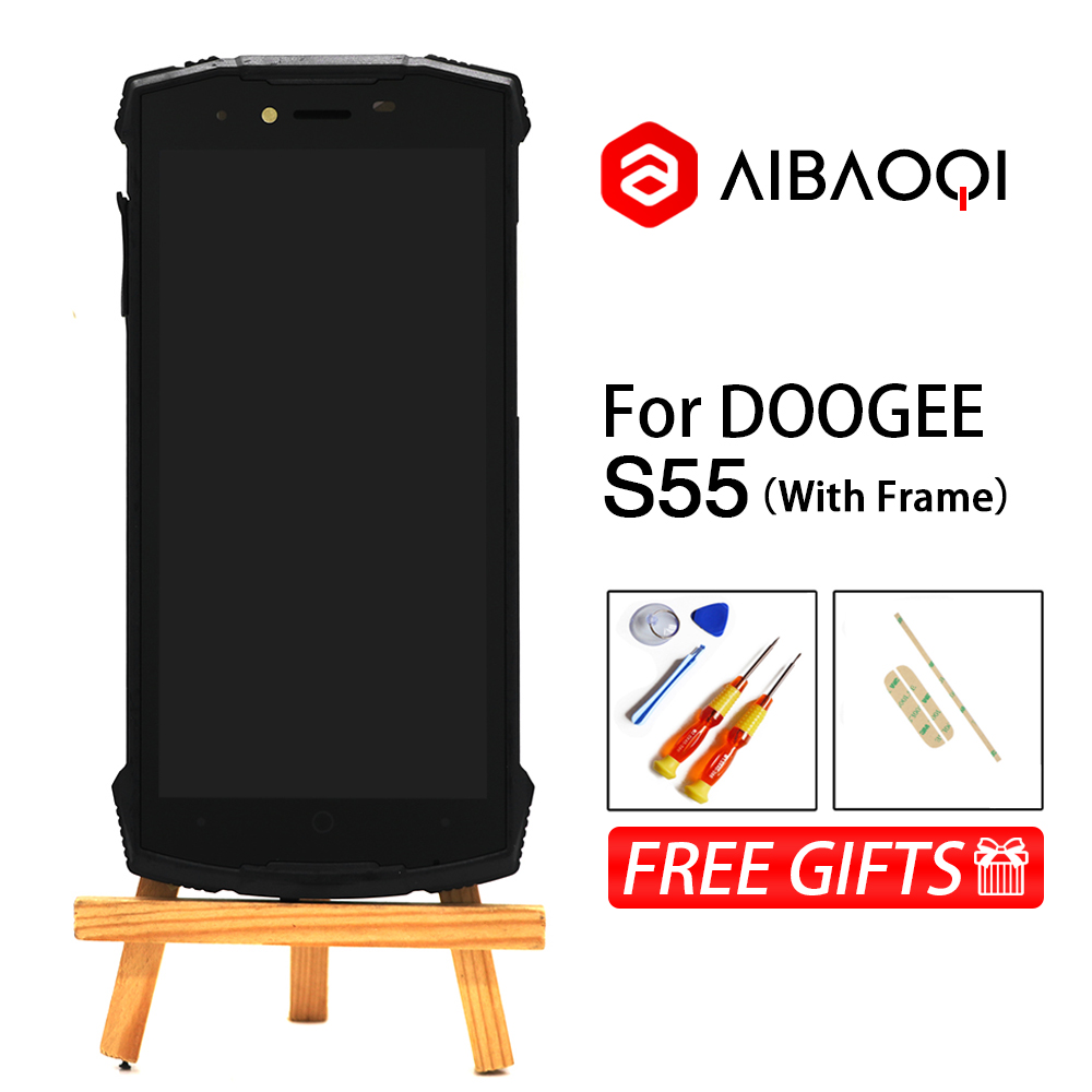 AiBaoQi New Original 5 5 inch Touch Screen 1440x720 LCD Display Assembly Replacement For Doogee S55