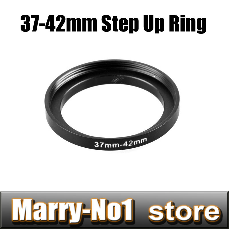 Free shipping Black Step Up Filter Ring 37mm to 42mm 37mm-42mm 37-42mm