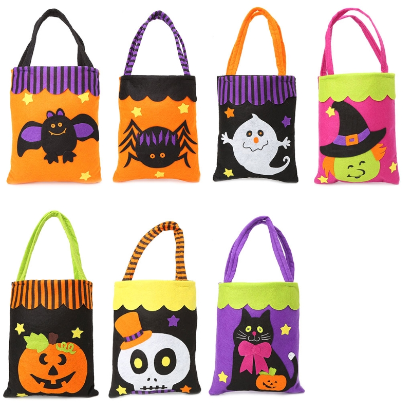 THINKTHENDO  Mini Tote Bags Childrens Kids Gift Party Loot Trick Treats Sweets Candy Bag For Halloween Festival temptations mixups surfers delight flavor treats for cats pouch mega bag