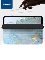 blue marble Smart Case for iPad Pro 11 12.9 2018 Cover Trifold Magnet Case Magnetic Attachment Rubberized Cover for iPad Pro11