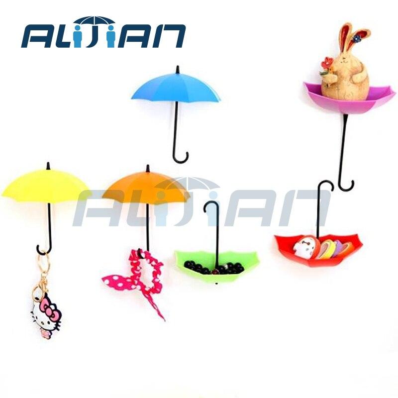 stile ombrello forte adesivo gancio di modo gancio home storage basket piccoli accessori bagno adesivi