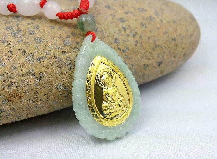 Nuevo diseño de calidad superior Guanyin Jade Collar para hombres mujeres buena suerte Colgantes