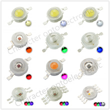 20pcs High Power 3W LED Chip Cool Warm White Natural Red Blue Green Yellow RGB 660nm 445nm IR 730 850 940  UV395  for Spotlight cool plastic throwing circle game red blue green yellow
