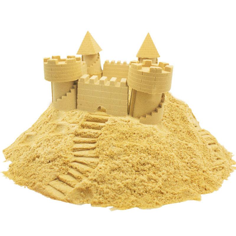 Купить с кэшбэком 100g/bag Sand Slime Soft Clay Novelty Beach Toys Model Clay Dynamic Moving Magic Sand Toys for Children