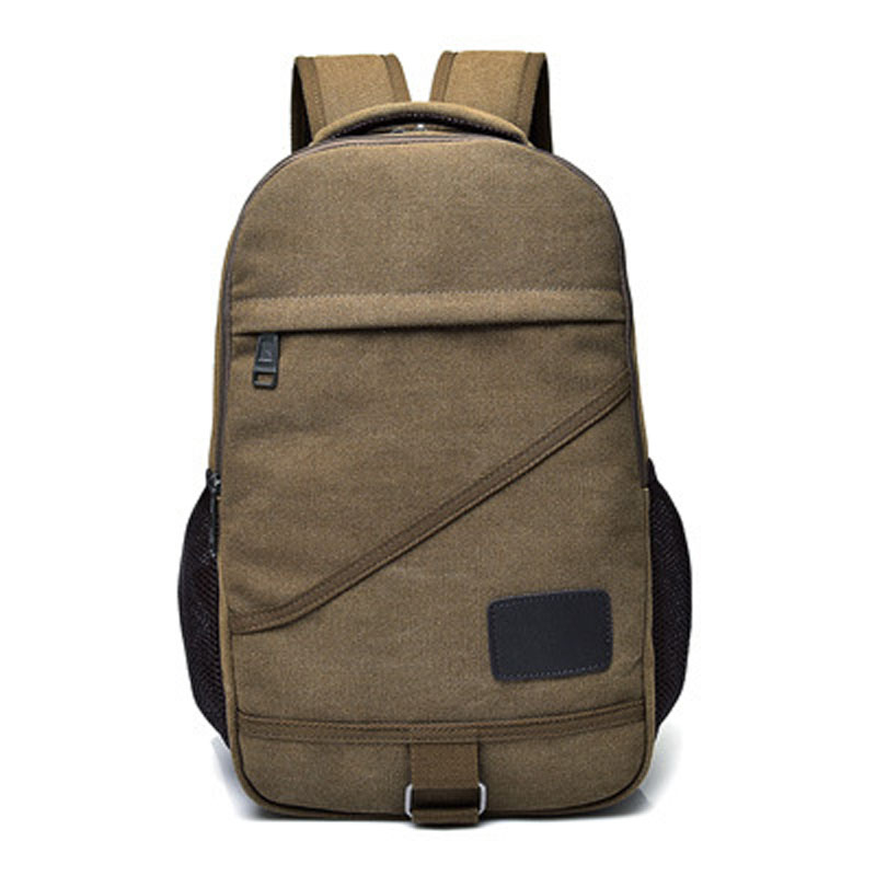 Men Large Capacity Backpack Casual Canvas Travel Rucksack Back Pack School Bag