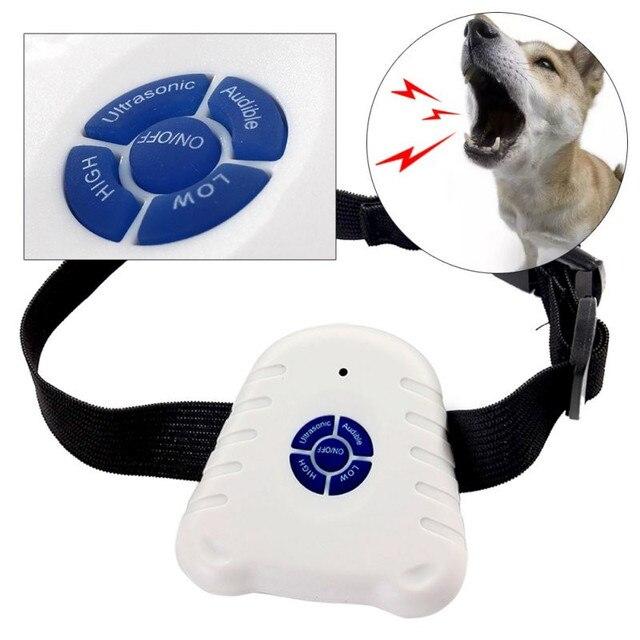 Waterproof Dog Stop Barking Control Collar Training Device Button Clicker Adjustable Ultrasonic Dog Anti Bark Collar  1