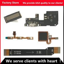Flex pour Redmi 5 Plus capteur d'empreintes digitales pour Redmi 5 Plus boutons de Volume d'alimentation câble flexible pour Redmi 5 Plus Dock de chargement USB