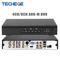 Techege 4CH 8CH AHD M DVR 1080N DVR NVR HVR All 3 In 1 Recorder P2P