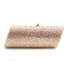 lady Gold champagne Crystal Diamond Women cocktail purple white Evening Bags Metal Minaudiere Clutch Wedding Party Handbag Purse xiyuan brand pineapple shape red yellow crystal women evening purse metal clutch bag wedding dinner minaudiere handbag wallet