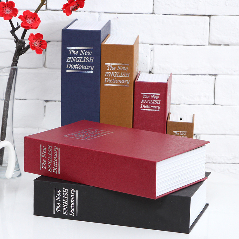 Storage Box Creative English Books storage tanks piggy bank card fuse boxes birthday gift storage safety safes