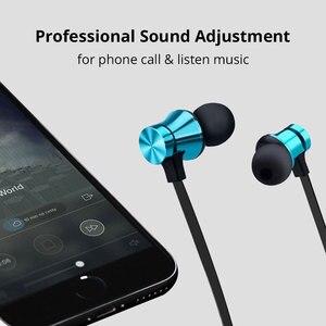 Image 3 - Kablosuz kulaklık manyetik Bluetooth kulaklık su geçirmez spor kulaklık kulakiçi Mic ile Xiaomi Redmi için not 8 Pro Umidigi F2