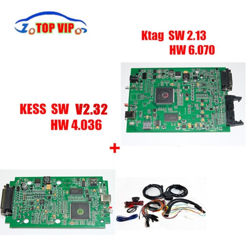 Prix pour ECU Programmeur KTAG V2.13 FM 6.070 + KESS V2 V2.32 Date V4.036 OBD2 Gestionnaire ECU Chip Tuning Kit Aucun Jeton Limitée Meilleur Qualité
