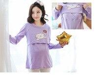 Maternidad enfermería Tops ropa para amamantar para mujeres embarazadas fashin algodón embarazo Camisetas Tees