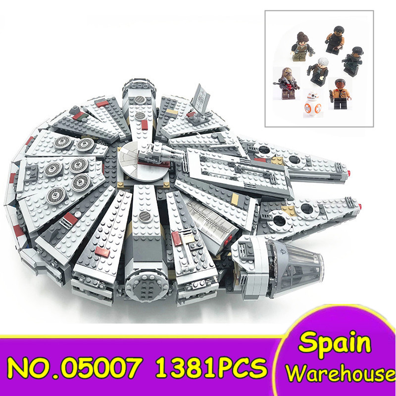 05007 1381Pcs Millennium Falcon Star Ship Building Blocks Star Wars 75105 79211 Toys Bricks Children Gift