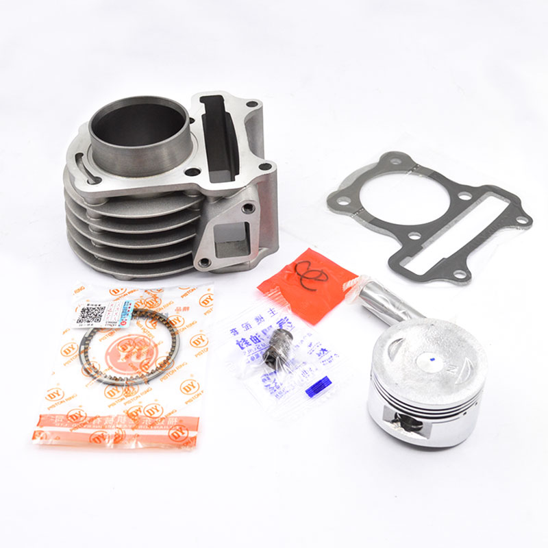 цена на Motorcycle Cylinder Piston Ring Gasket Kit Set Big Bore For 139QMB 139QMA GY6 50cc-100cc Moped Scooter ATV QUAD Dirt Bike TaoTao