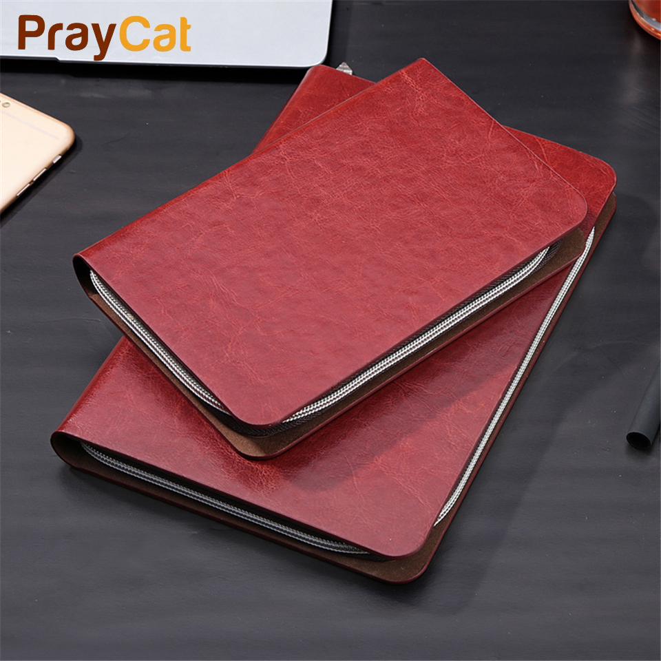 A6 A5 B5 Zipper Notebook Spiral Dokibook Business Leather Luxury Planner Creative Case Book Diary Agenda Organizer Custom Log harhpia a5 notepad business planner multi function agenda creative conference notebook custom record notebook book student diary