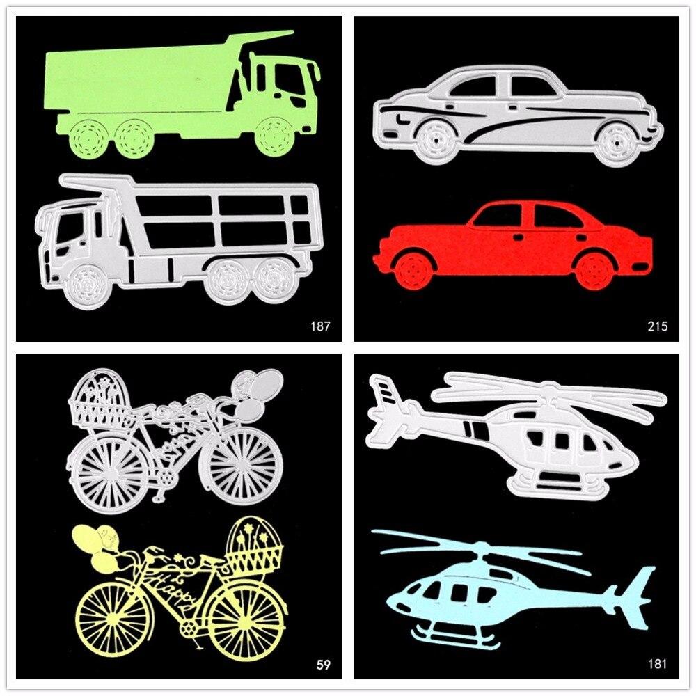 Moule de découpe de métal bricolage | design de véhicule, modèle clip art / album décoration papier en relief pour bricolage